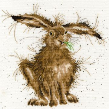 Hare Brained Cross Stitch Kit